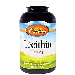 Carlson Labs, Lecithin, 1200 mg, 300 Soft Gels - 2pc