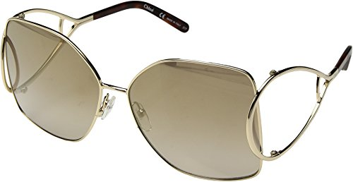 Chloe Women's Jackson - CE135SL Gold/Havana One - Sunglasses Zappos
