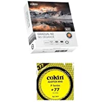 Cokin Graduated ND Filter Kit P Series Filter Holder & Graduated ND Filters (121L, 121M, 121S) 77mm Lens Adaptor Ring P Series