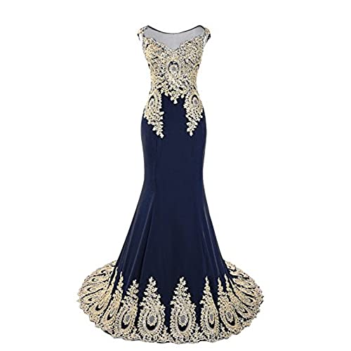Navy Blue and Gold Homecoming Dress: Amazon.com
