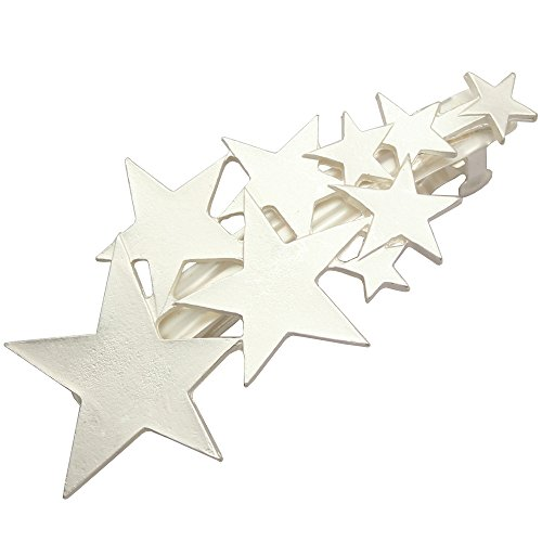 Q&Q Fashion Silver Plated Blogger Fav Shooting Star Bridal Hair Pin Clip Cuff Wrap Claw Snap Head Barrette