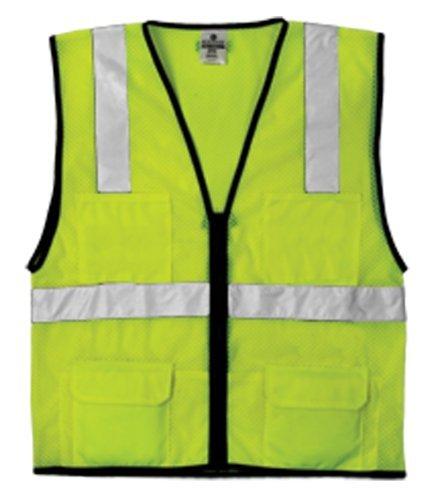 Economy Cool Mesh Vest (ML Kishigo 1191 Economy Series Ultra Cool Mesh 6 Pocket Vest, Fits Large and Extra Large, Lime by ML Kishigo)