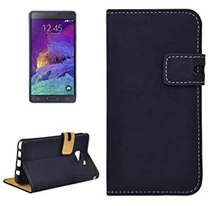 Horizontal Leather Case Funda Flip Cover con Holder & & Wallet bolsillos internos para Samsung Galaxy Note, 5/N9200 Small Quantity Recommended Before Samsung Galaxy Note 5 Launching (Dark Blue)