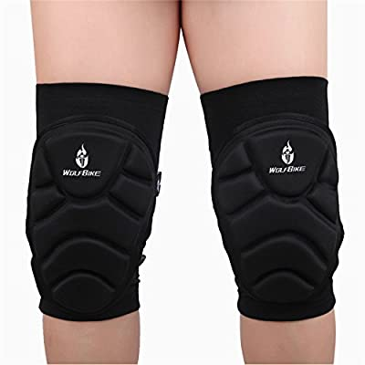 Wolfbike Two Pieces Skiing Goalkeeper Soccer Football Volleyball Extreme Sports Knee Pads Protect Cycling Knee Protector Kneepad (Size : XL)