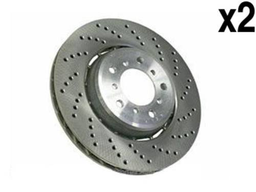 BMW M-3 Brake Rotor Front L+R (x2) EURO X-drilled w/ Floating Aluminum ()