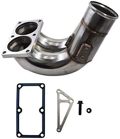 "3.5/"" Stainless Steel Intake Manifold Elbow Kit for 07-18 Ram 6.7L Cummins Diesel"
