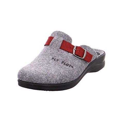 Fly Flot 861801 - Zapatillas de estar por casa para mujer gris