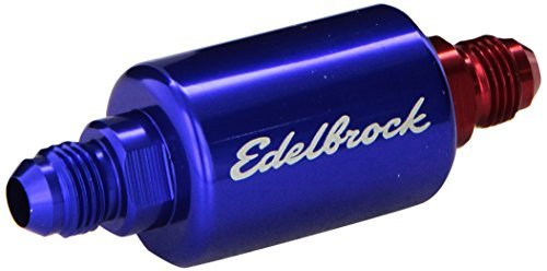 Edelbrock 8130 Blue Anodized Aluminum Fuel Filter, Model: 8130, Outdoor&Repair Store by Hardware & Outdoor