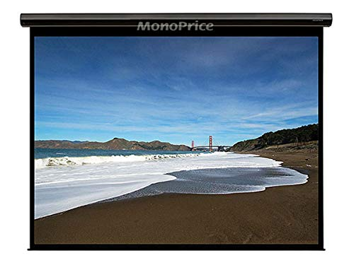 Motorized Projection Screen w/IR Remote - Matte White Fabric, 120 inch, 16:9