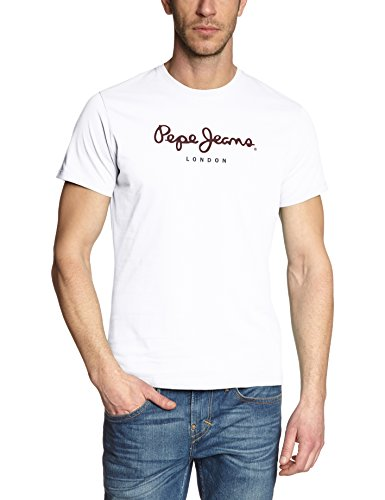 Pepe Jeans Mens T-Shirt White Size M (Pepe Jeans Brillen)