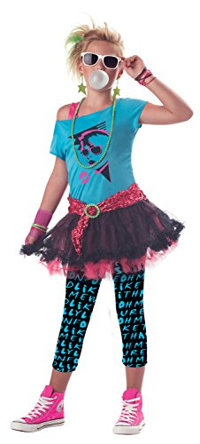 California Costumes 80's Valley Girl Child Costume,