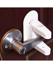 Jolik Door Lever Lock (4 and 2 Pack) Child Proof Doors & Handles 3M VHB Adhesive - Child Safety