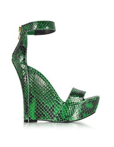 Python Vert Balmain Compensées Cuir Femme De Chaussures S7CSS150420140 wEqnqXrcB