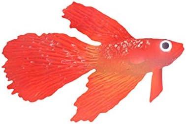 Geetobby Aquarium Small Goldfish Decoration Landscaping Fish Tank Soft Rubber Fish Ornament