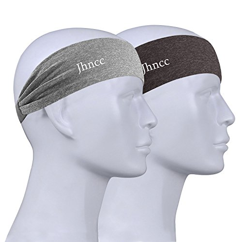 Mens Headbands,Sport Headband Non Slip Moisture Wicking,Ideal Sweat Band for Running,Cycling,Hot Yoga and Athletic Workouts and Fashion 2 - Foreheads Wide