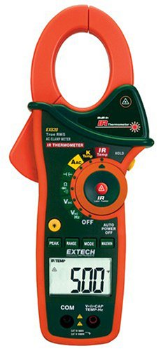 Extech EX820 True RMS 1000A Clamp Meters with Infrared Th...