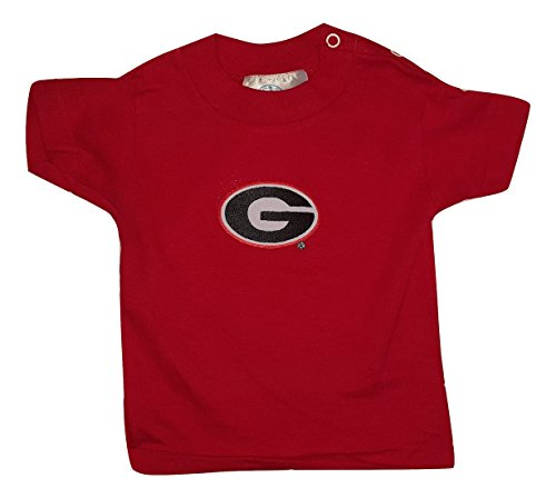 Two Feet Ahead NCAA Infant T-Shirt Baby Tee (Georgia Bulldogs, 12 (Ncaa Baby Clothing)