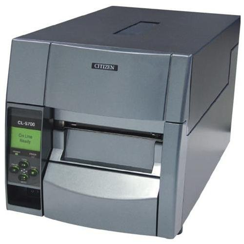 Citizen America CL-S700 CL-S700 Series Thermal Transfer/Direct Thermal Barcode and Label Printer with Adjustable Sensor, RS-232 Serial, 4