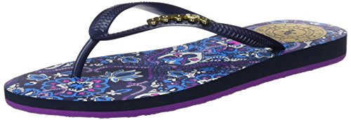 Juicy Couture Leena - Chanclas, Mujer Azul (Regal/Antibes Tile)