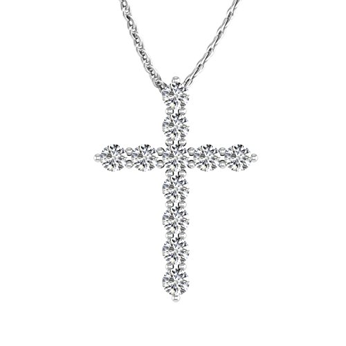 14k Gold & Diamond Cross - 1