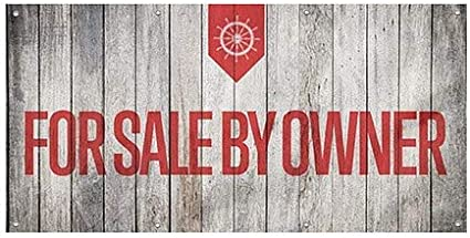 for Sale by Owner 8x4 CGSignLab Nautical Wood Heavy-Duty Outdoor Vinyl Banner