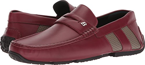 Mens Oxford Bally (BALLY Men's pierrick Driving Loafer Red 8.5 D UK)