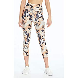 Marika Gaby High Rise Capri Legging, Flowers Canteloupe, Medium