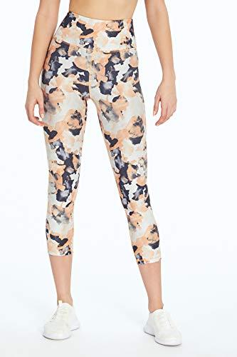 Marika Gaby High Rise Capri Legging, Flowers Canteloupe, Medium