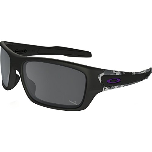 Oakley Men's Turbine Non-Polarized Iridium Rectangular Sunglasses, Matte Black, 63 - Sunglasses Is Polarized Non What