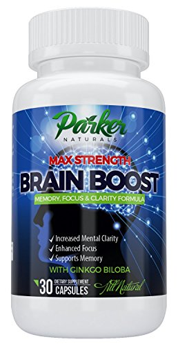 Focus Memory Clarity Brain Supplement: Nootropic Support With DMAE by Parker Naturals, Ginkgo Biloba & St. John's Wort