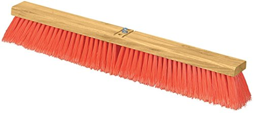Carlisle 3610223624 Flo-Pac Juno Style Hardwood Block Sweep, Polypropylene Bristles, 36'' Length, Orange (Case of 6) by Carlisle