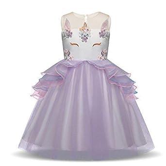 Bonito Disfraz de Unicornio de Princesa para niñas 688872a80e7c