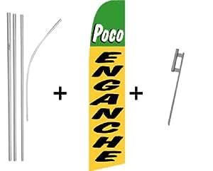 Poco enganche (verde y amarillo) cantidad 2Super bandera y poste Kits