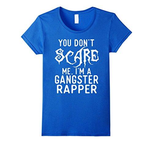 Female Gangster Costume Ideas (Womens Funny Gangster Rapper Shirts Halloween Costume Joke Gag Gift Medium Royal Blue)