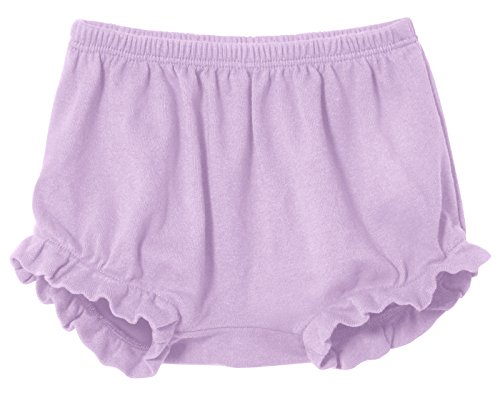 City Threads Baby Girls' and Boys' Ruffled Diaper Covers Bloomers Soft Cotton Fashionable Cute, Lavender, NB