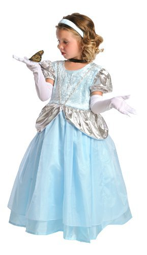 Little Adventures 12013 Fancy Deluxe Cinderella Costume Ages 5-7 + Free Hair Bow