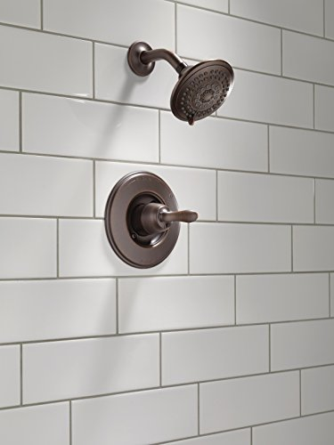 Delta T14294-RB Linden 14 Series Single-Function Shower Trim Kit with 5-Spray Touch Clean Shower Head, Venetian Bronze (Valve Not Included)