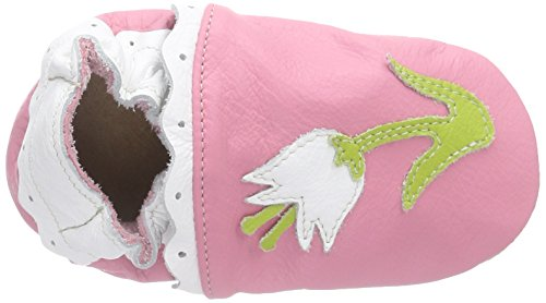 HOBEA-Germany Lauflernschuhe Blume Pink - Pantuflas para bebés Rosa (Pink)