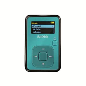 SanDisk Sansa Clip 4 GB MP3 Player (Teal) (Discontinued by Manufacturer)
