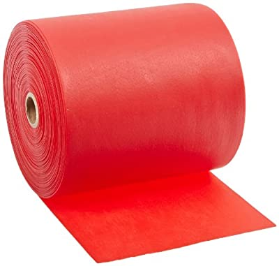 Cando 10-5622 Red Latex-Free Exercise Band, Light Resistance, 50 yd Length