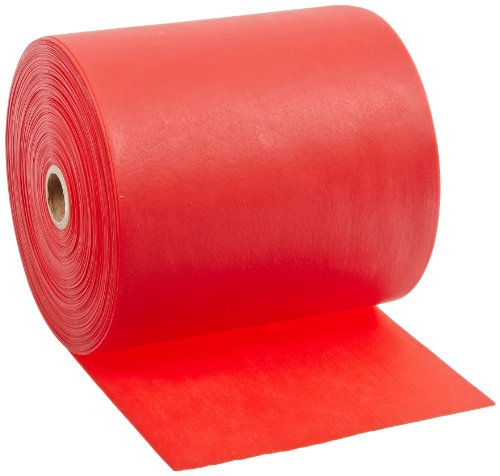 - Cando 10-5622 Red Latex-Free Exercise Band, Light Resistance, 50 yd Length