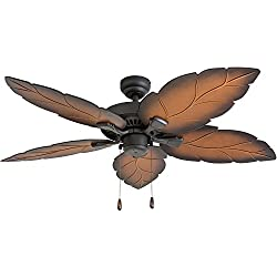 "Prominence Home 50575-01 Falklands Tropical Ceiling Fan, 52"", Mocha, Tropical Bronze"