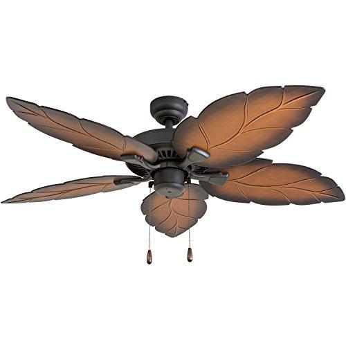 "Prominence Home 50575-01 Falklands Tropical Ceiling Fan, 52"", Mocha, Tropical Bronze"