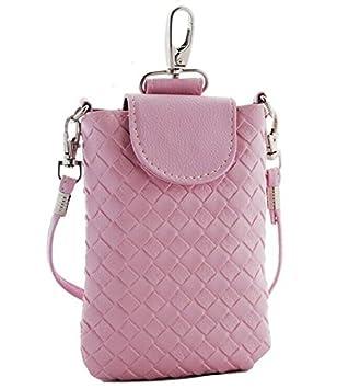 00f1e6a7a5 Jovilife Pochette Téléphone Portable Petit Sac à Main épaule Bandoulière  Housse étui (rose)