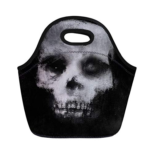 Semtomn Lunch Tote Bag Face Scary of Skull
