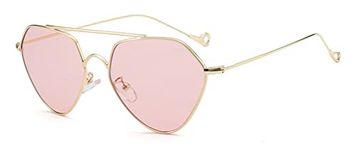 9a508ab2236 GAMT Light Tint Aviator Sunglasses for Men and Women Vintage Metal Frame  Pink