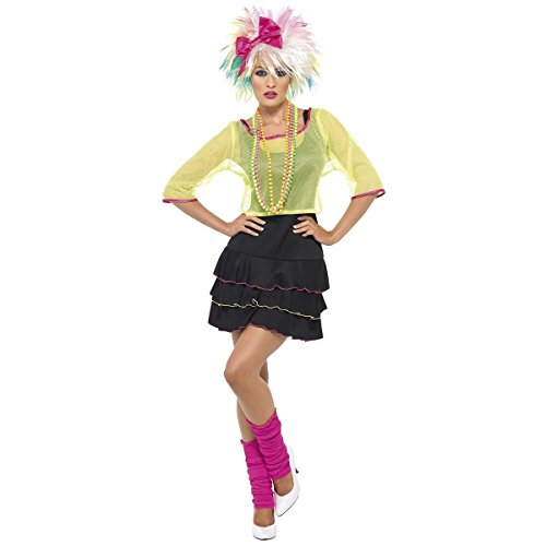 GSG Halloween Costumes 80s Pop Star Tart Adult Costume - Medium - Dress Size 10-12