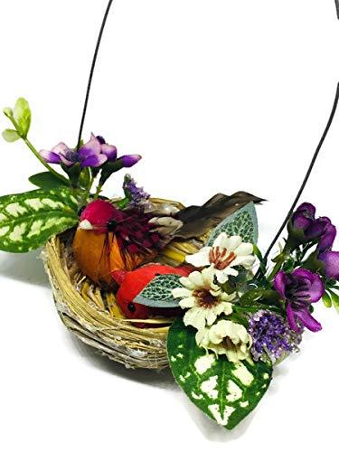 Mini Fake Bird Nest Decorative Artificial Feather Foam Doves Wedding Venue Ornament Nature Home Decor B0009 from PKC_Bird