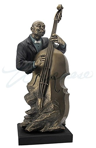 Artistic Double Bass Player Statue Sculpture - Jazz Band Collection by wu