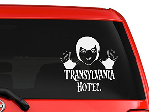 Hotel Transylvania character Mavis Dracula, monsters scary comedy children adult animation Halloween special cartoon car truck laptop macbook window vinyl decal sticker 6 inches white]()